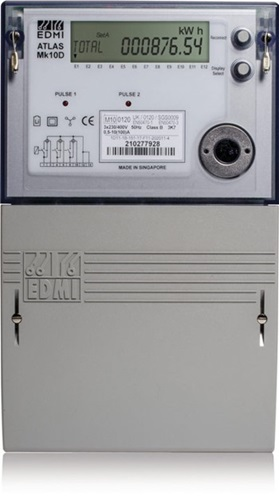 Three phase general purpose and dedicated off peak circuit meter