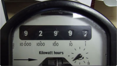 Odometer electricity meter